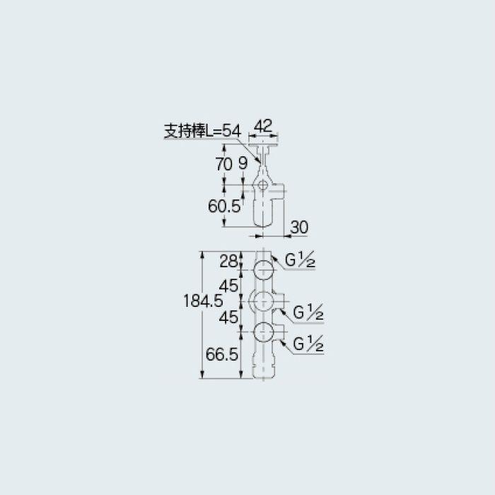 783-552-13B 止水栓 キッチンヘッダー