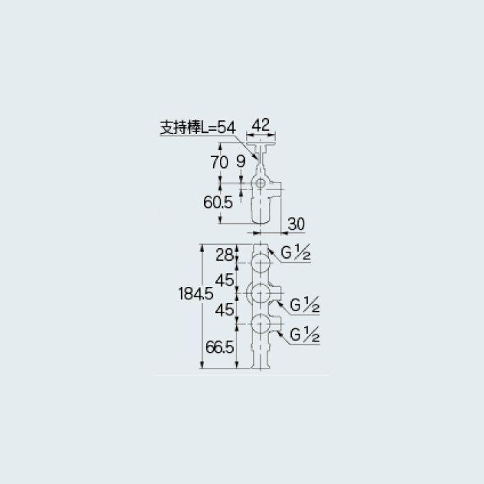 783-556-13 止水栓 キッチンヘッダー