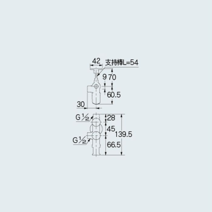 783-565-13 止水栓 キッチンヘッダー