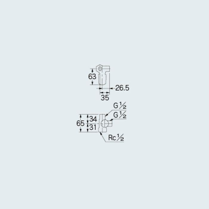 783-572-13B 止水栓 キッチンヘッダー