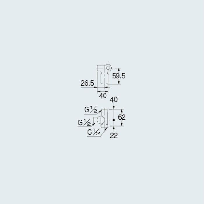 783-581-13R 止水栓 片ナットキッチンヘッダー