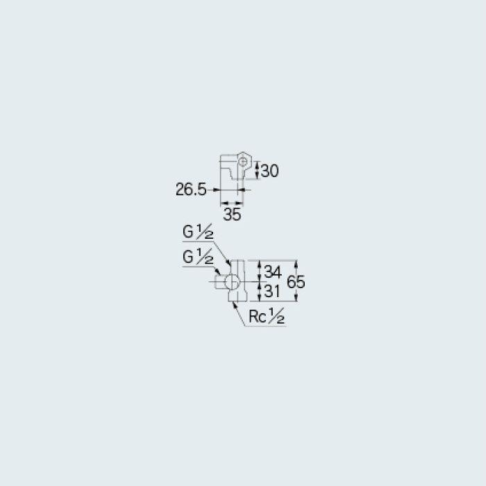 784-582-13 止水栓 キッチンヘッダー(D式)
