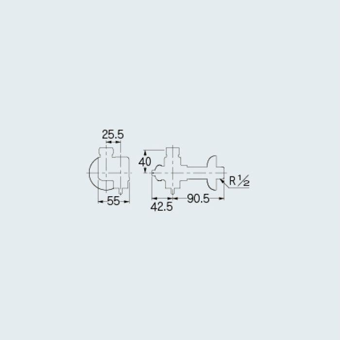 787-301 止水栓 アングル形止水栓(逆止解除機能つき)