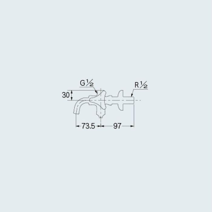 787-000 止水栓 アングル形分岐止水栓 13