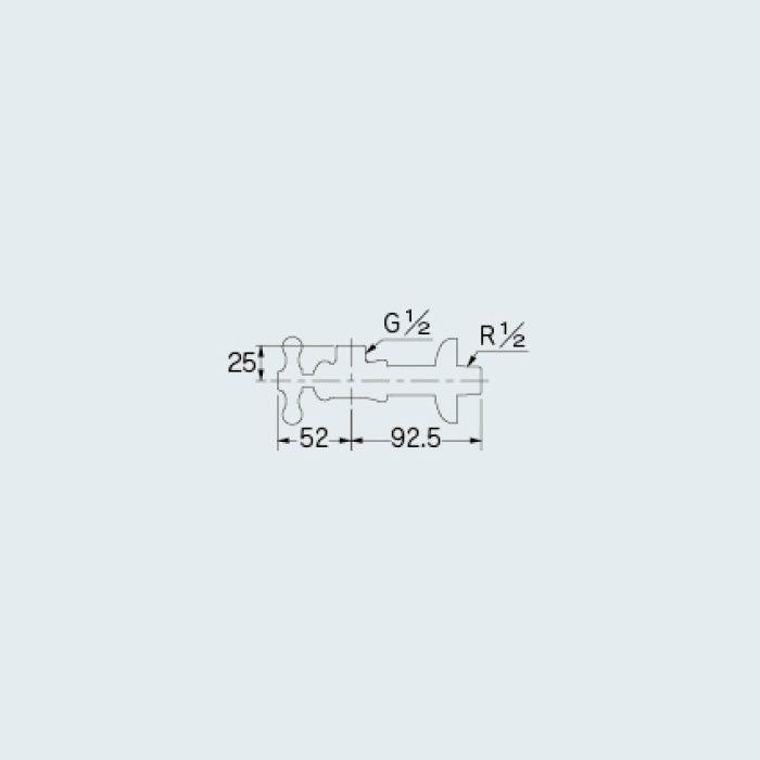 【入荷待ち】705-643-13 止水栓 アングル形止水栓 真鍮メッキ