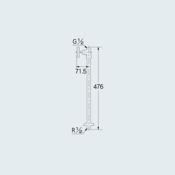 709-600-13 止水栓 ストレート形止水栓