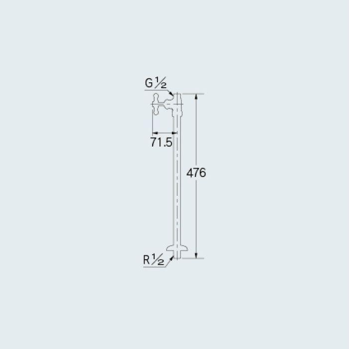 709-603-13 止水栓 ストレート形止水栓 真鍮メッキ