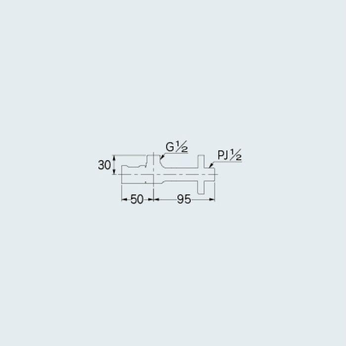 705-633-13 止水栓 アングル形止水栓 真鍮メッキ