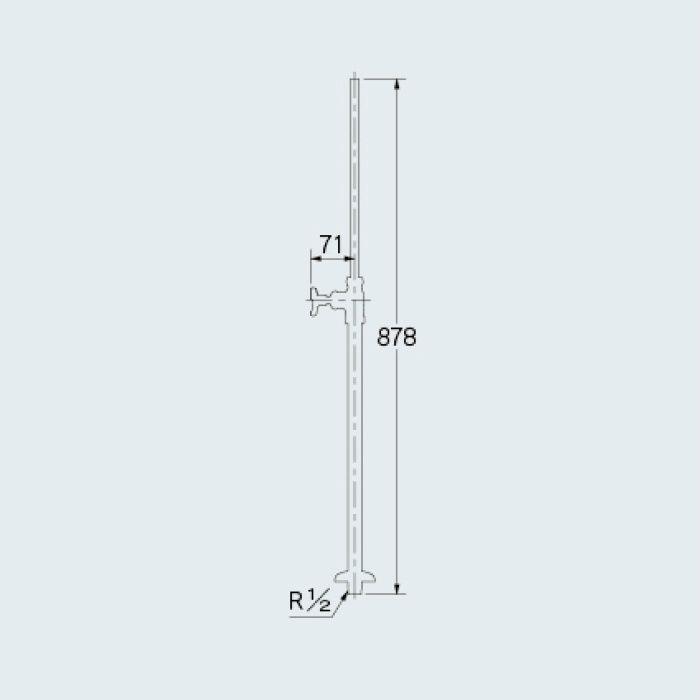 709-104-13 止水栓 ストレート形止水栓