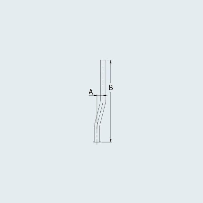0719-15X300 止水栓 止水栓給水曲管