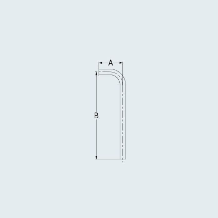 4680-90X500 止水栓 止水栓給水L管