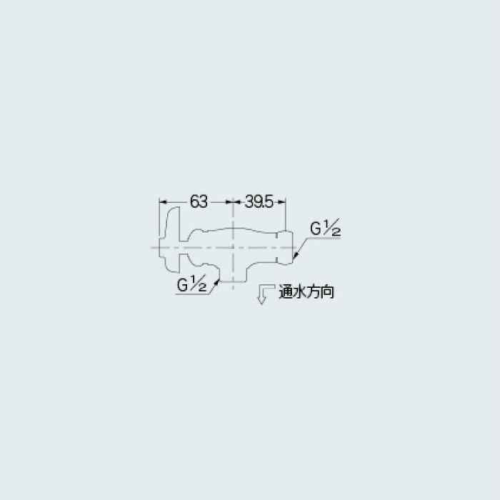 783-004-13 止水栓 アングル形片ナットバルブ