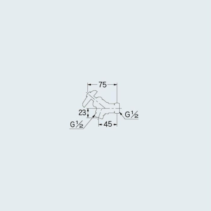 783-005-13 止水栓 アングル片ナットバルブ