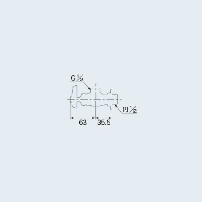 7850 止水栓 湯沸器用化粧バルブ 13