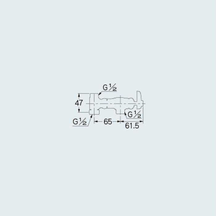 786-004-13 止水栓 アングル分岐栓(C)