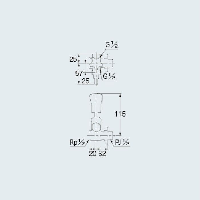 781-100 止水栓 水抜分岐バルブ 13