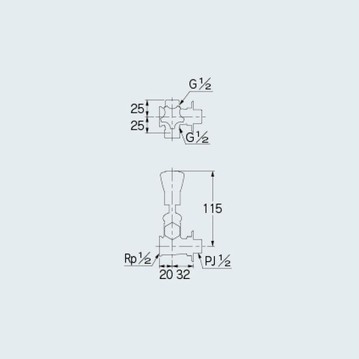 782-600 止水栓 水抜分岐バルブ 13