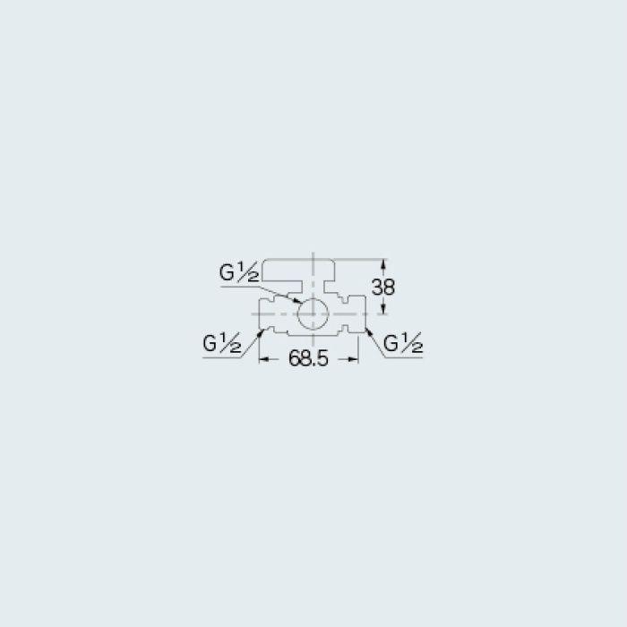650-255-13 バルブ 三方ボール切替弁(片ナット・止水機能つき)