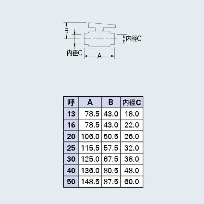 655-506-13 バルブ PVCボールバルブ(接着式)