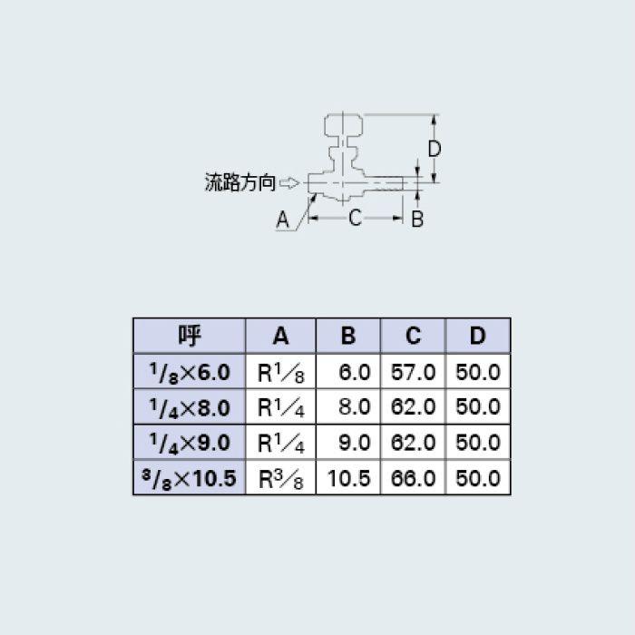 651-94-1/4X9.0 バルブ ニードルバルブ