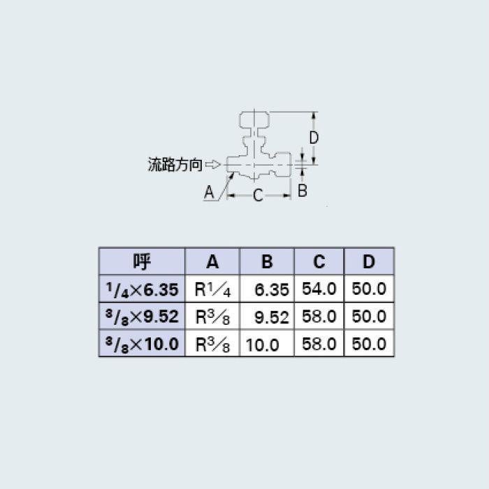 651-95-1/4X6.35 バルブ ニードルバルブ