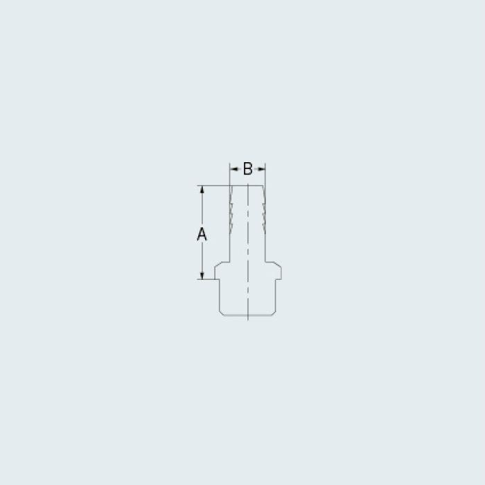 6133-3/8X12.0 バルブ ホースニップル