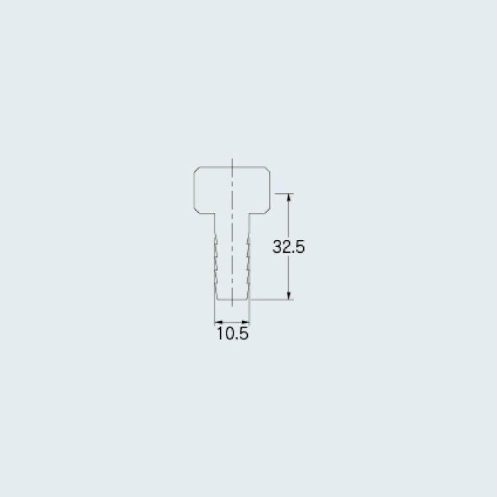 613-36-3/8X10.5 バルブ ナットつきホースニップル