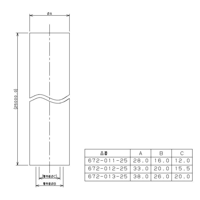 672-011-25 メタカポリ 保温材つき 青 13mm