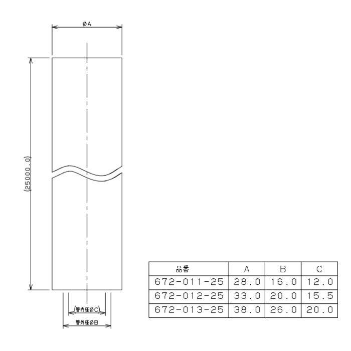 672-012-25 メタカポリ 保温材つき 青 16mm