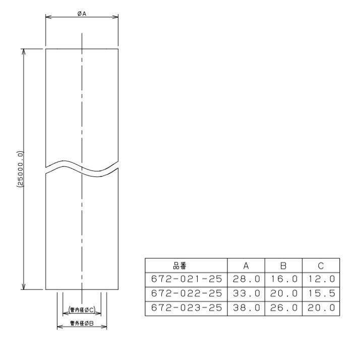 672-022-25 メタカポリ 保温材つき 赤 16mm