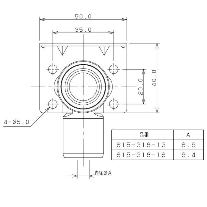 615-318-13 メタカポリ両座付水栓エルボ ワンタッチ