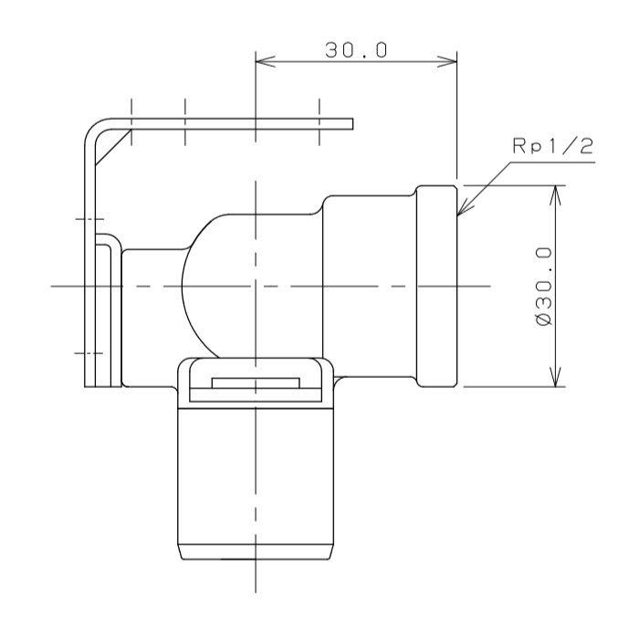 615-318-16 メタカポリ両座付水栓エルボ ワンタッチ