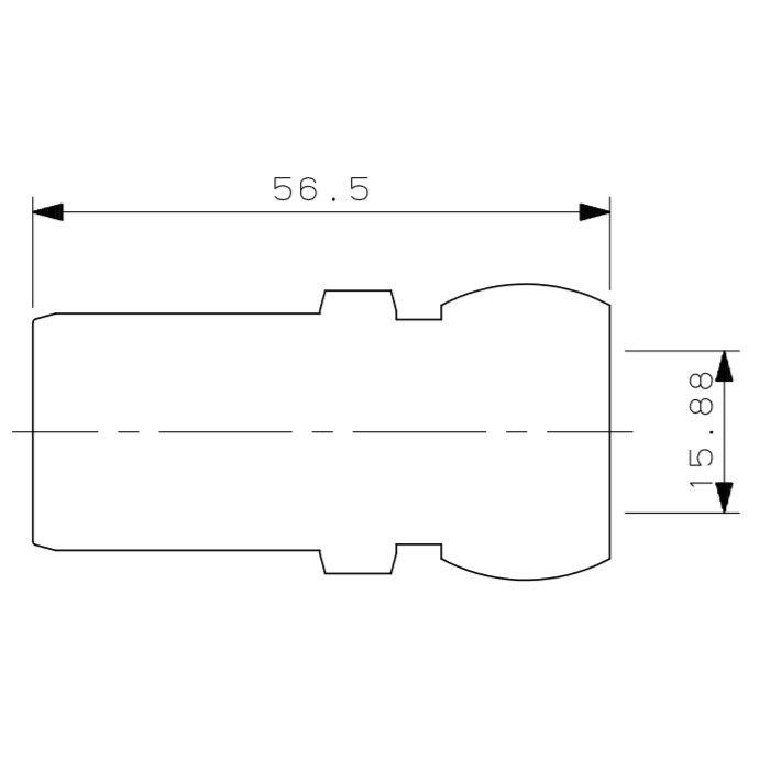 615-321-13B メタカポリ銅管アダプター 15.88mm