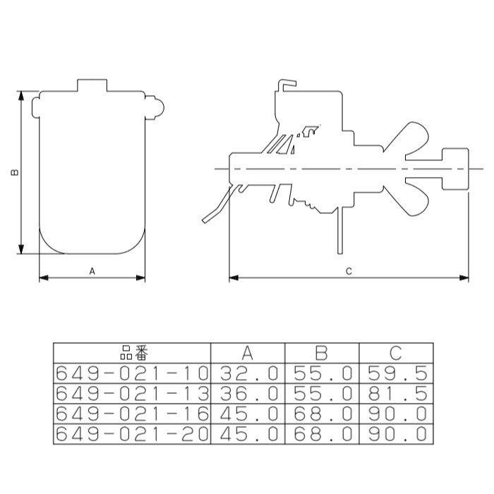 649-021-13 メタカポリ用テストプラグ