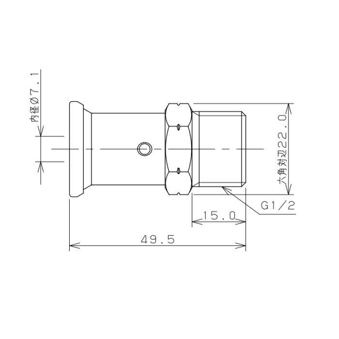 610-002-13A JKロック外ネジアダプター ワンタッチ