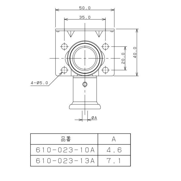 610-023-10A JKロック両座付給水栓エルボ ワンタッチ