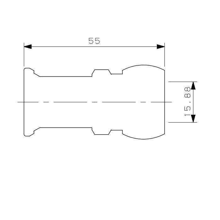 610-031-13B JKロック銅管接続アダプター 15.88mm
