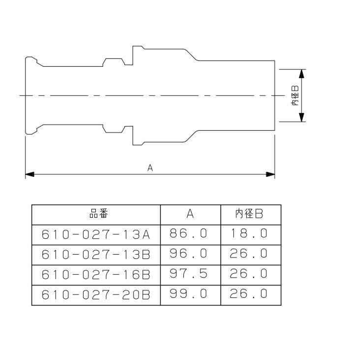 610-027-13A JKロックHIVP変換アダプター ワンタッチ