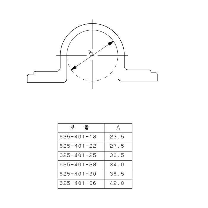 625-401-25 樹脂製サドルバンド