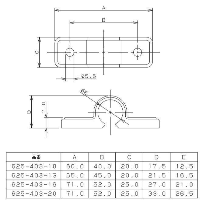 625-403-20 樹脂管用サドルバンド
