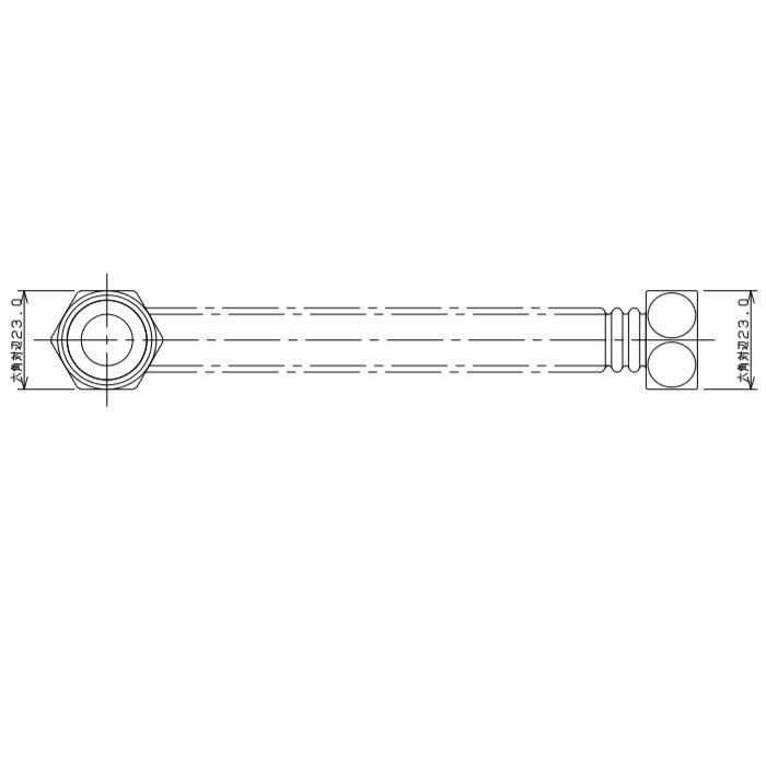 798-43X400 水道用フレキパイプ L型