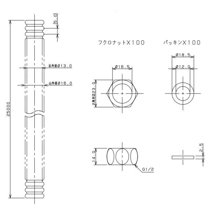 6710S-13X25 巻フレキパイプセット