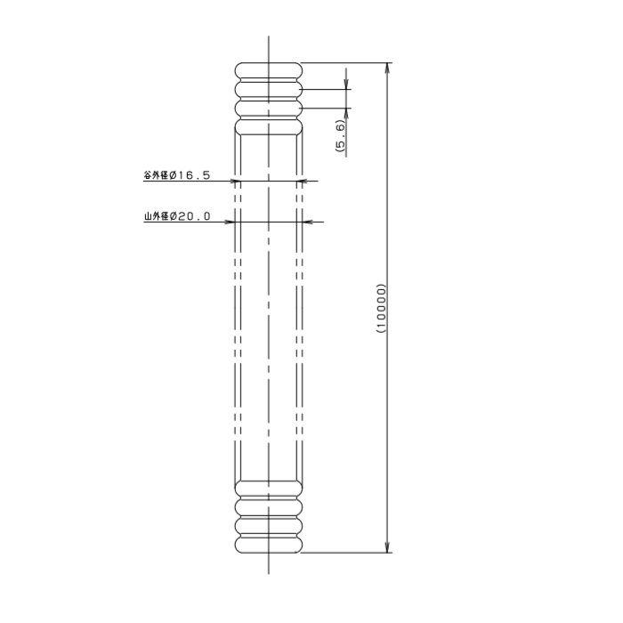 6712-20X10 巻フレキパイプ 316L