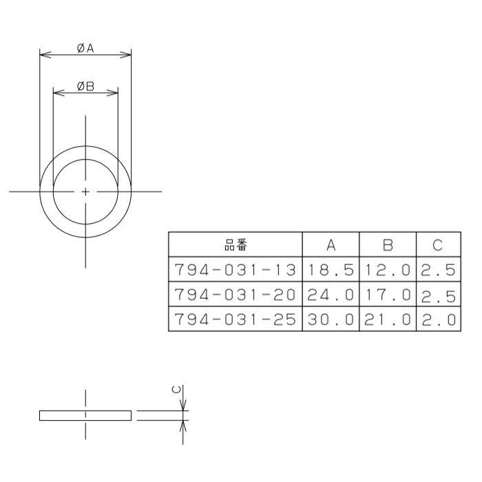 794-031-25 パッキン EPDM