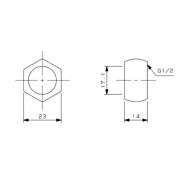794-329-13 フレキパイプ用フクロナット ナットのみ(16.8用)