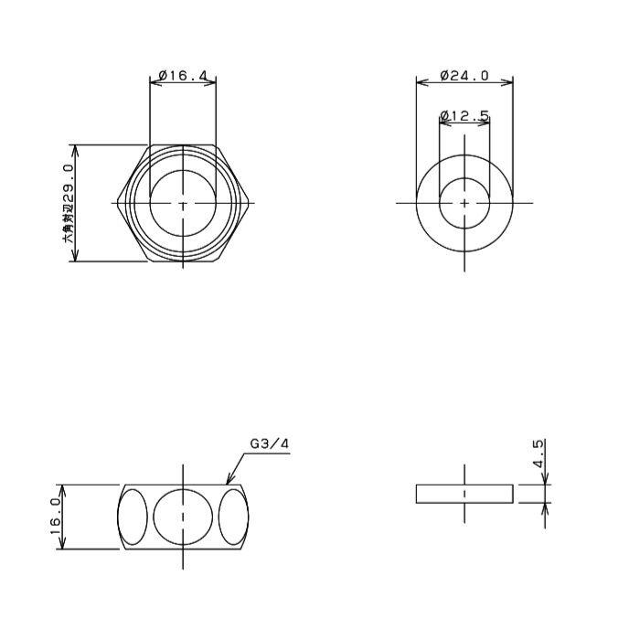 796-013 フレキパイプ用フクロナット 16用