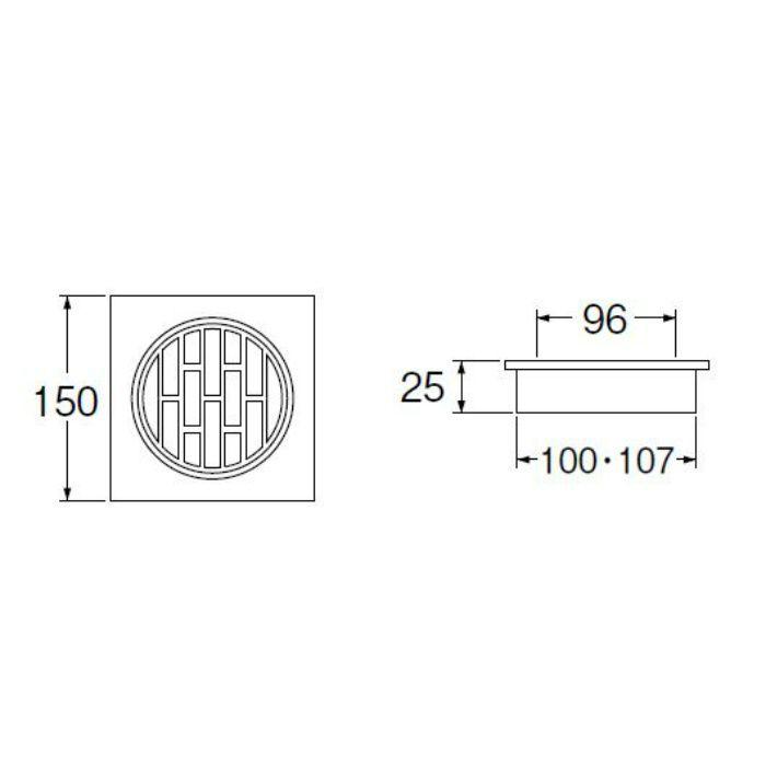 H480-100X150 兼用角目皿