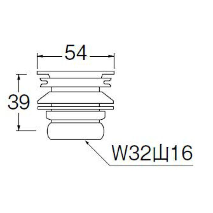 H31-25 丸鉢排水栓
