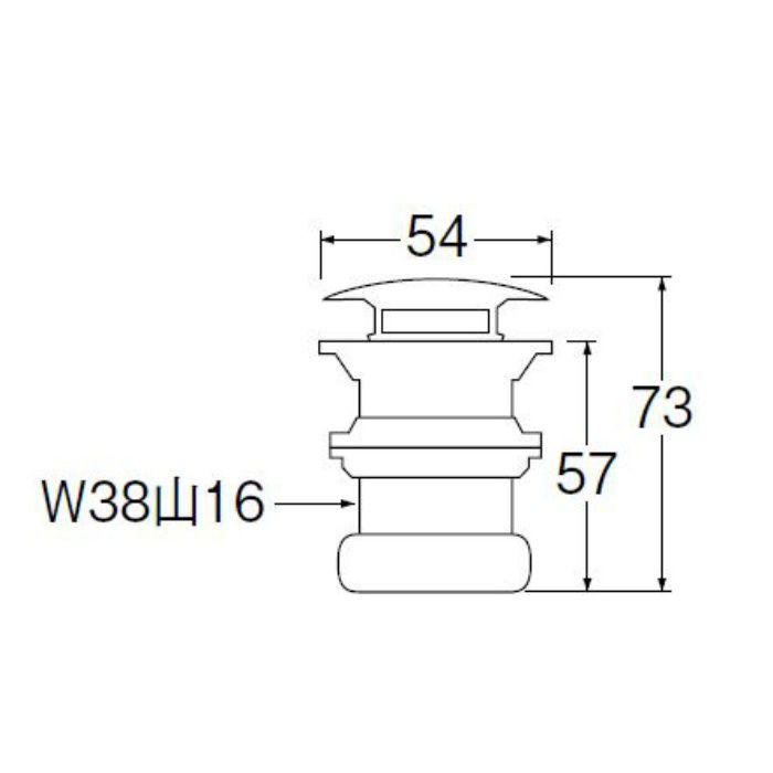 H310-32 丸鉢排水栓