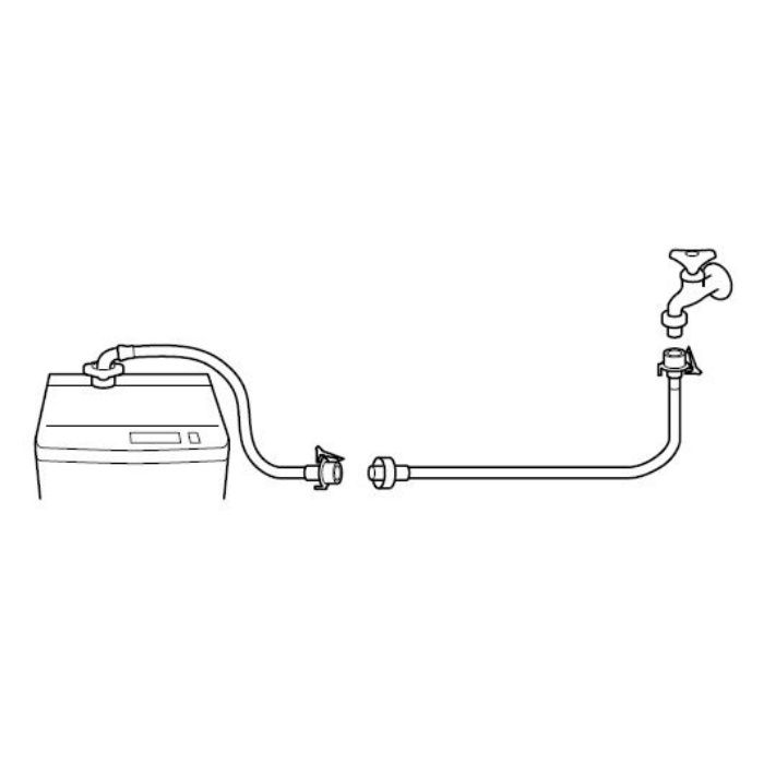 PT17-2-0.5 自動洗濯機給水延長ホース 長さ0.5m